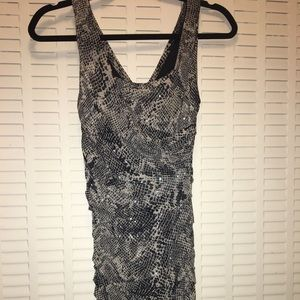 Express animal print fitted dress